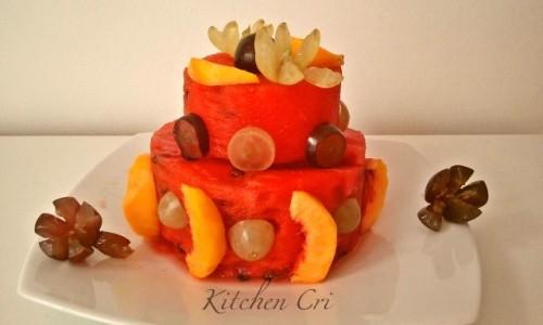 Torta di anguria ricetta di frutta