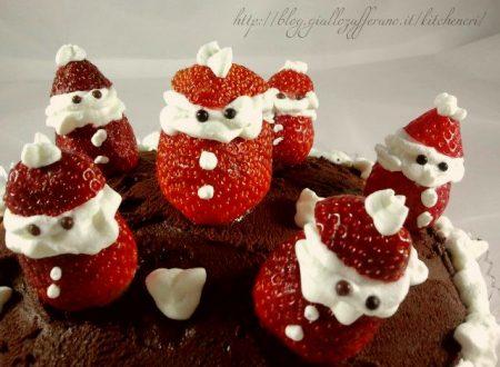 Torta cioccolato e fragole, dolce di Natale