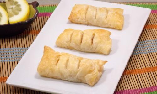 Gamberi e pancetta in pasta sfoglia, ricetta fashion