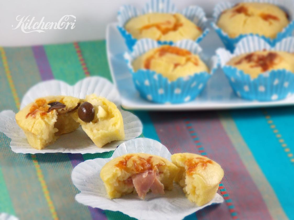 Muffin salati con impasto molle