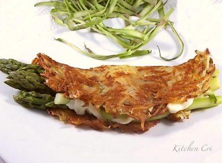 Rostì di patate con asparagi e mozzarella