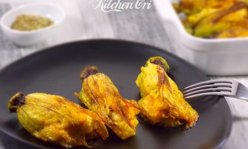 Fiori di zucca ripieni di patate e maggiorana