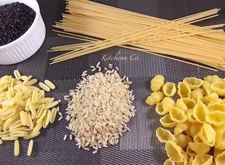 Come cucinare la pasta e il riso