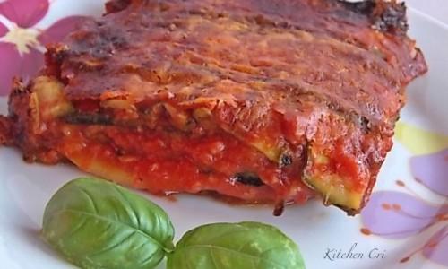 Parmigiana di zucchine grigliate, ricetta light