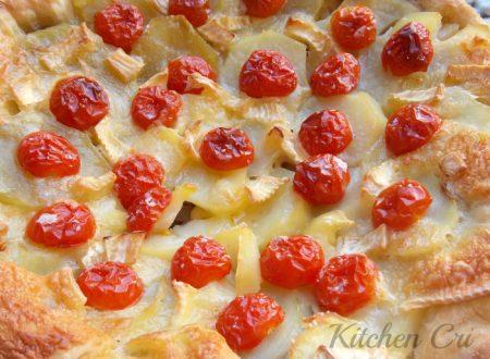 Torta di pizza patate e cipolla