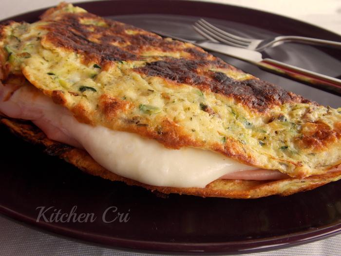 Omelette di zucchine farcita
