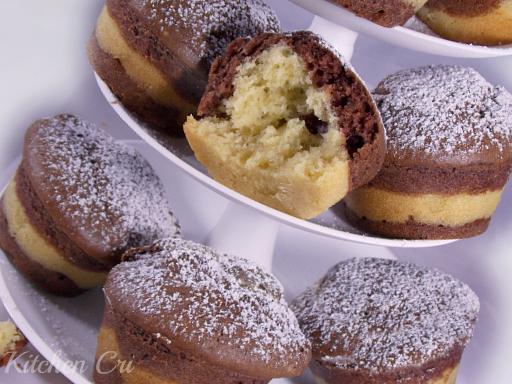 Muffin bicolore, ricetta prima colazione