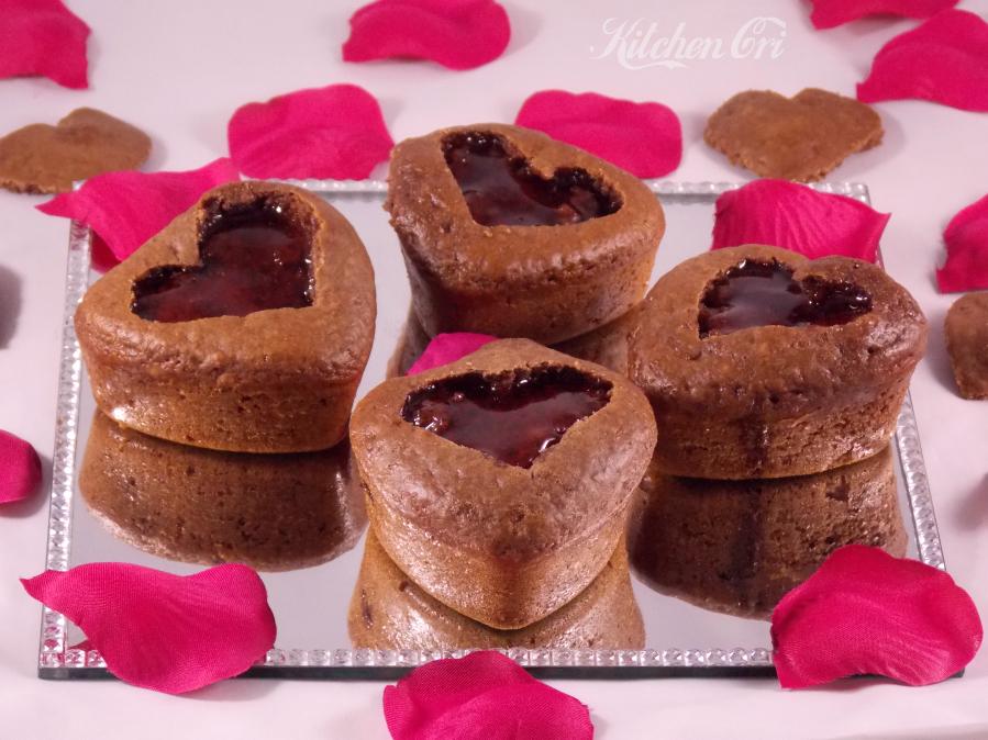 Muffin cacao e fragola