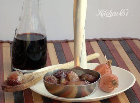 Scalogni caramellati al vino