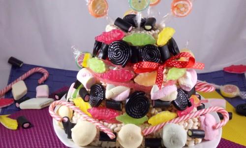 Torta di caramelle, completamente commestibile