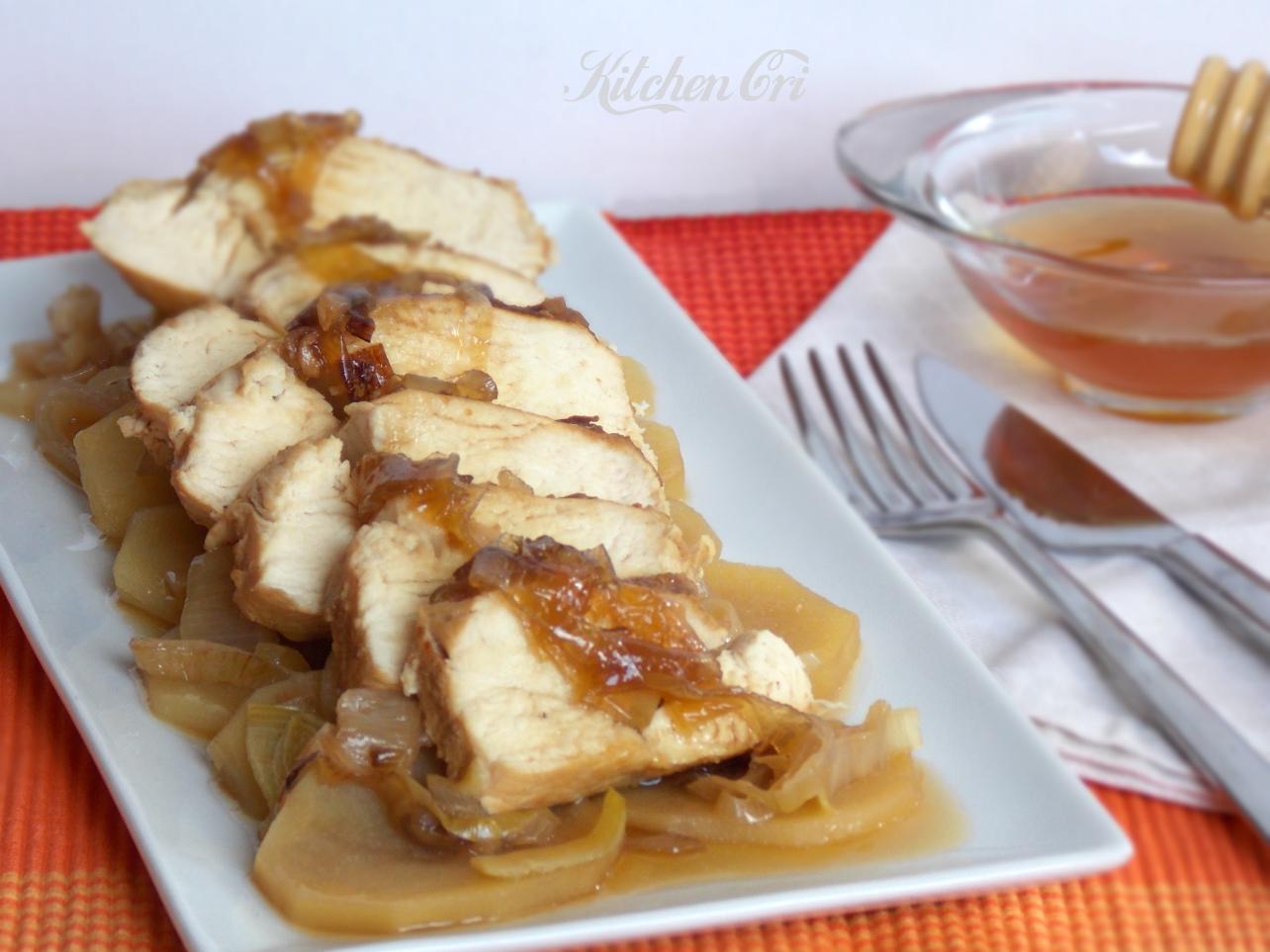 Tagliata di pollo con salsa al miele