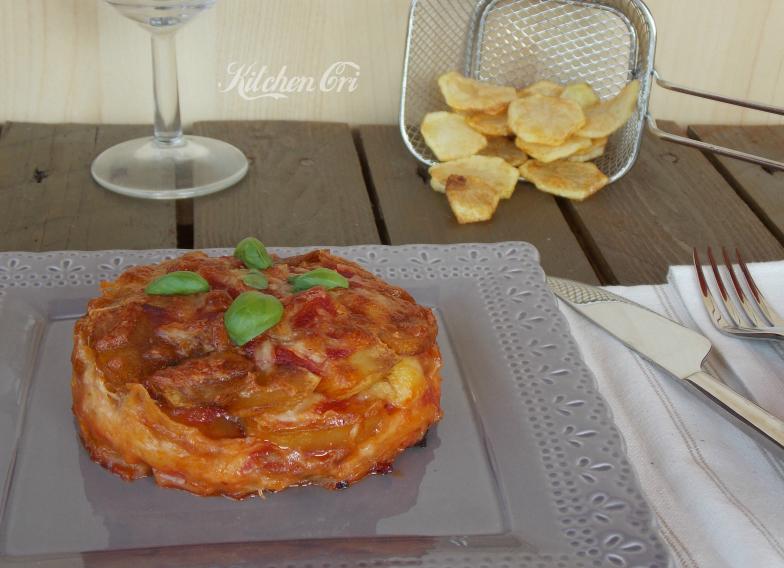 Parmigiana di patate fritte