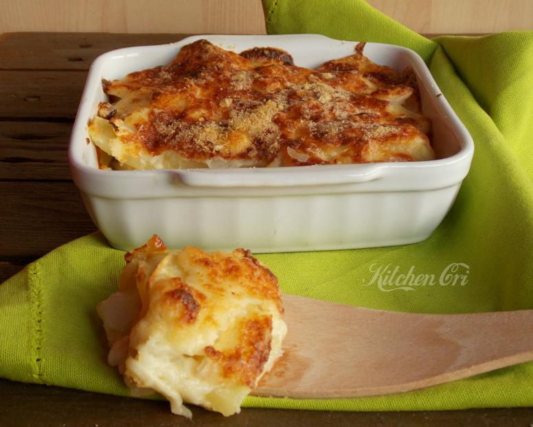 Patate e cipolle al gratin