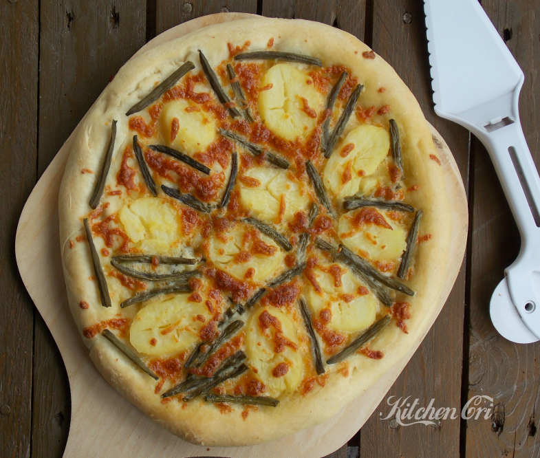 Pizza patate e fagiolin