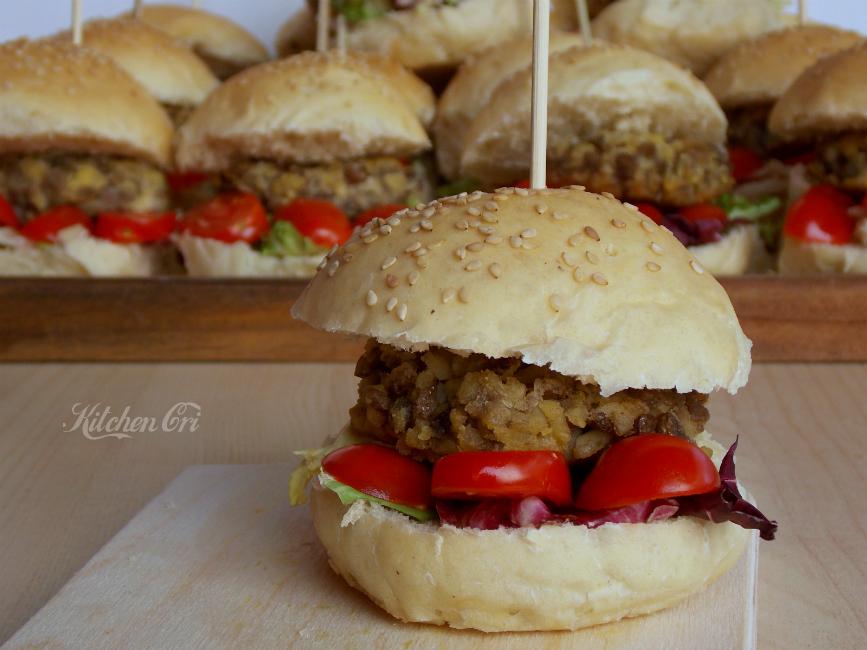Hamburger di bulgur e lenticchie