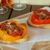 Bruschetta di peperoni ripieni