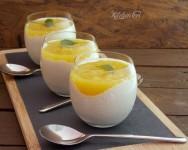 Crema di latte con coulis di ananas