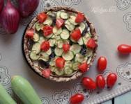 Crostata salata di zucchine, ricetta veg