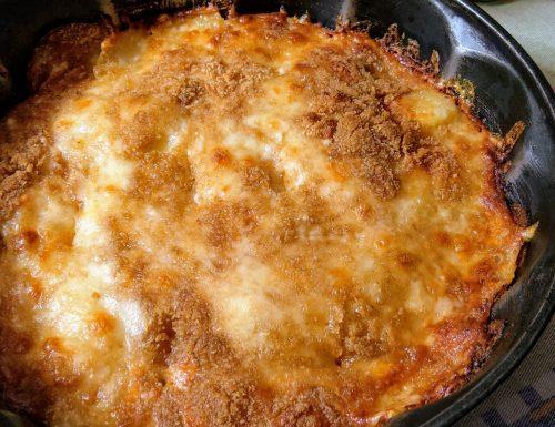 Parmigiana di Patate (con prosciutto cotto e formaggio)