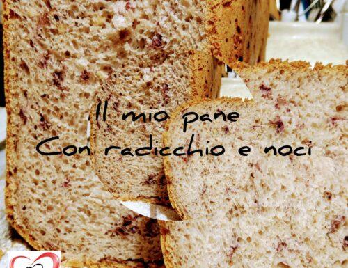 Pane con radicchio e noci