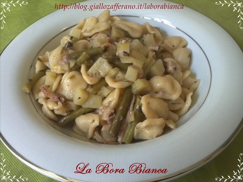 Ricetta orecchiette fatte in casa con moscardini, patate e fagiolini La Bora Bianca