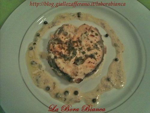 Cuori di salmone al pepe verde, ricetta romantica