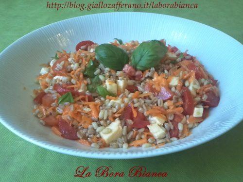 Insalata di farro e orzo, ricetta vegetariana
