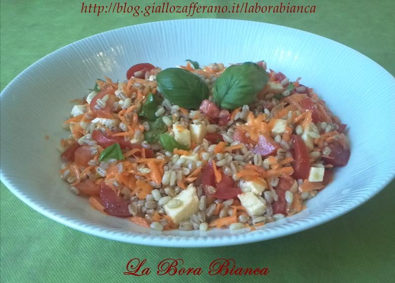 Insalata di farro e orzo | ricetta vegetariana | La Bora Bianca