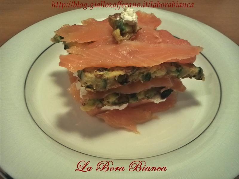 Millefoglie di salmone e zucchine   ricetta fresca e veloce   La Bora Bianca