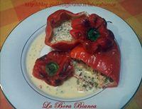 Peperoni al forno ripieni di crema ai gamberetti La Bora Bianca