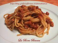 Spaghetti all'amatriciana La Bora Bianca