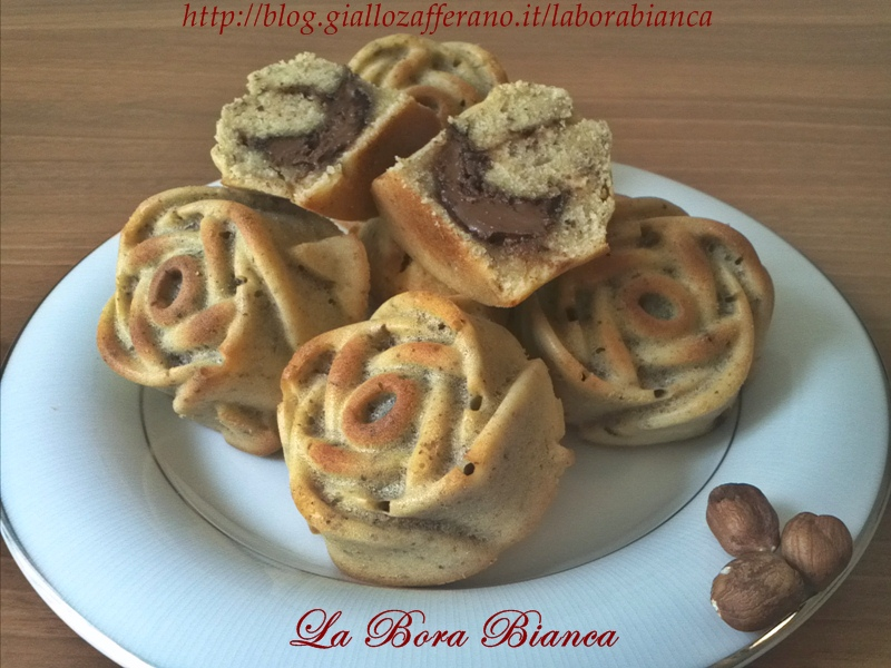 Muffin con nocciole alla nutella   ricetta golosa   La Bora Bianca