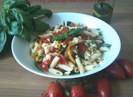 Pasta fredda con verdure grigliate, ricetta vegetariana