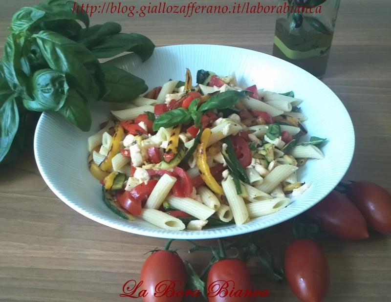 Pasta fredda con verdure grigliate | ricetta vegetariana | La Bora Bianca