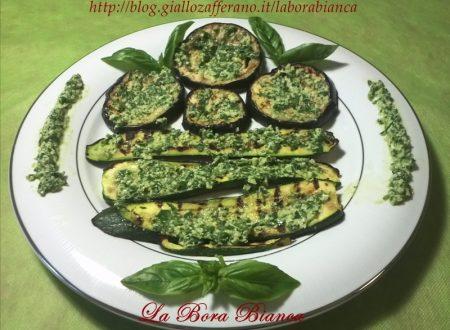 Verdure grigliate con pesto al limone, ricetta vegetariana