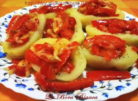 Barchette di patate ripiene, ricetta senza forno