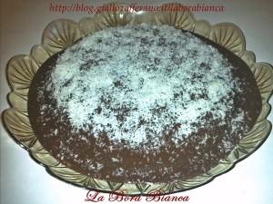 Torta al cocco glassata - Torta Bounty La Bora Bianca