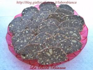 Salame di cioccolato e nocciole La Bora Bianca