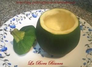 Zucchina vuota - Zucchina tonda ripiena - Bomba a mano La Bora Bianca