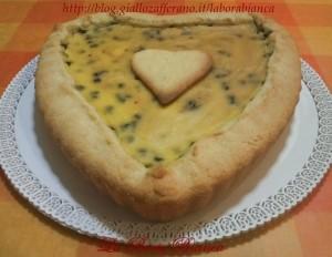 Crostata con crema pasticcera e ricotta | ricetta golosa | La Bora Bianca