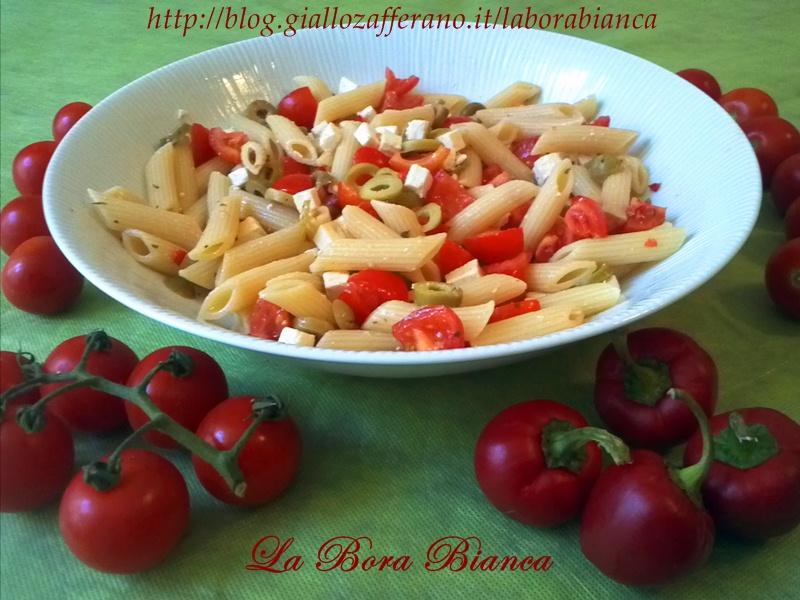 Pasta fredda alla mediterranea | ricetta vegetariana | La Bora Bianca