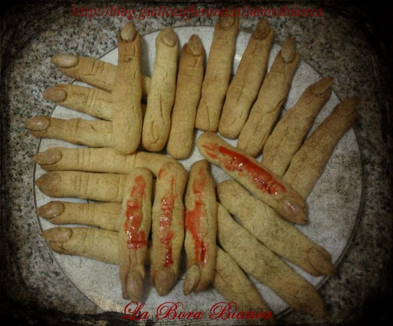 Dita di strega - ricetta biscotti di Halloween La Bora Bianca