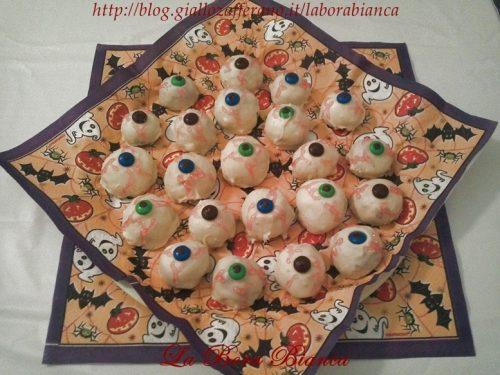 Occhi insanguinati, ricetta dolcetti di Halloween