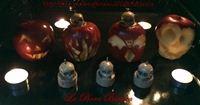 Mele stregate intagliate | decorazioni di Halloween | La Bora Bianca