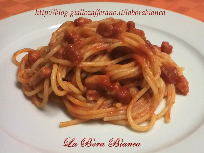 Spaghetti all'amatriciana, ricetta regionale La Bora Bianca