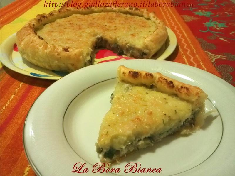 Torta salata con verdure e ricotta, ricetta vegetariana senza uova La Bora Bianca
