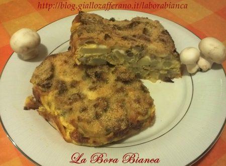 Tortino di patate e funghi, ricetta vegetariana