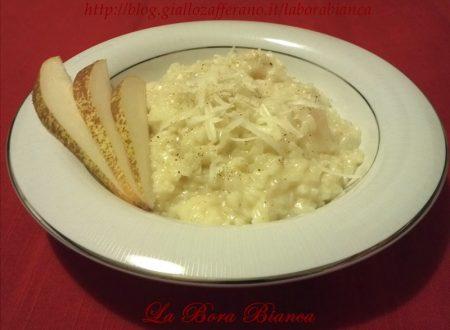 Risotto con formaggio e pere, ricetta vegetariana
