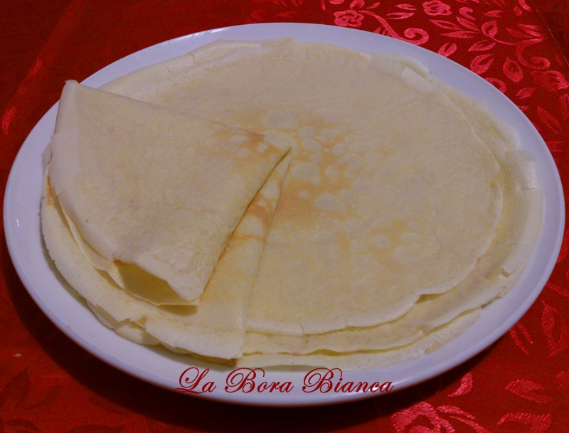 Crepes salate, ricetta base crespelle La Bora Bianca