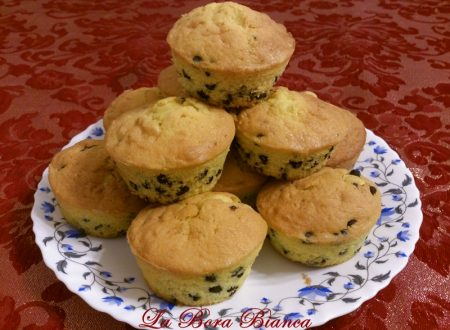 Muffin con gocce di cioccolato, ricetta semplice e veloce